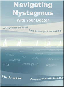 Navigating Nystagmus Book Cover. Click here to go to the website.